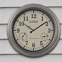 La Crosse Technology Atomic Analog Indoor Outdoor Wall Clock