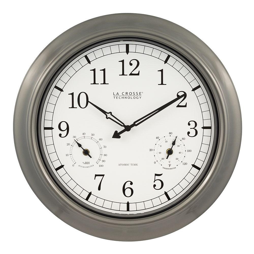Crosse technology atomic analog outdoor wall clock la crosse technology atomic analog outdoor wall clock amipublicfo Gallery