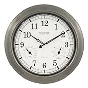 La Crosse Technology Atomic Analog Outdoor Wall Clock