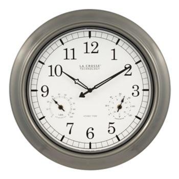 La Crosse Technology Atomic Analog Outdoor Wall Clock