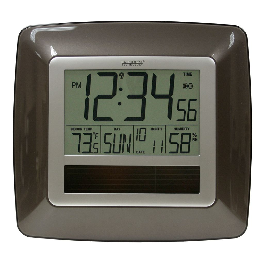 La Crosse Technology Solar Powered Atomic Clock