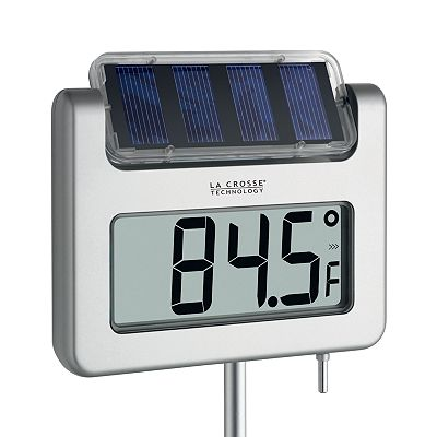 La Crosse Technology Solar Powered Garden Thermometer