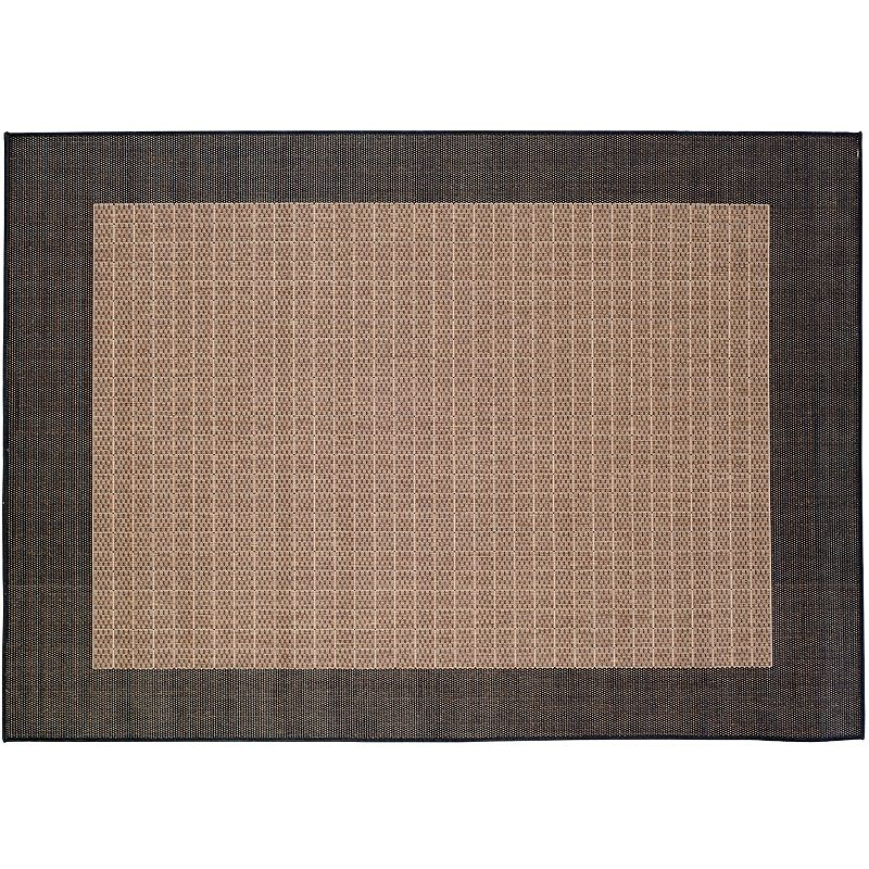 Couristan Checkered Field Rug - 24'' x 43'', Black, 2X4 Ft Couristan rugs are simply sophisticated. The checkered design and solid trim will enhance your home for years to come. Complete your living or dining room with this area rug. Watch the product video here. Durable Courtron polypropylene construction ensures lasting beauty. Details:  Polypropylene Spot clean Manufacturer's 1-year limited warrantyFor warranty information please click here Attention: All rug sizes are approximate and should measure within 2-6 inches of stated size. Pattern may also vary slightly. This rug does not have slip-resistant backing. Imported  Size: 2X4 Ft. Color: Black. Gender: unisex. Age Group: adult. Material: Synthetic.