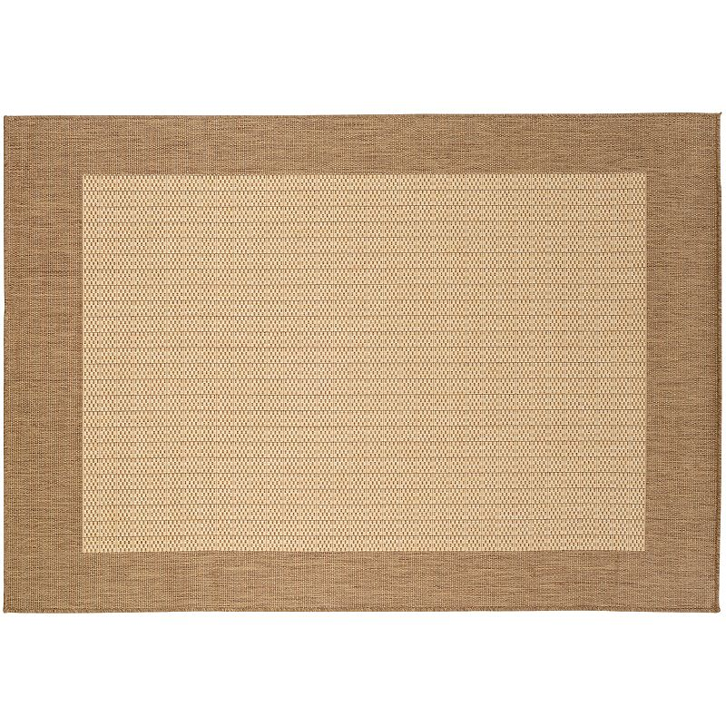 Couristan Checkered Field Rug - 24'' x 43'', Brown, 2X4 Ft Couristan rugs are simply sophisticated. The checkered design and solid trim will enhance your home for years to come. Complete your living or dining room with this area rug. Watch the product video here. Durable Courtron polypropylene construction ensures lasting beauty. Details:  Polypropylene Spot clean Manufacturer's 1-year limited warrantyFor warranty information please click here Attention: All rug sizes are approximate and should measure within 2-6 inches of stated size. Pattern may also vary slightly. This rug does not have slip-resistant backing. Imported  Size: 2X4 Ft. Color: Brown. Gender: unisex. Age Group: adult. Material: Synthetic.