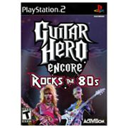 PlayStation 2 Guitar Hero Encore Rocks the 80s