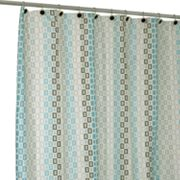 Famous Home Fashions Tempo Fabric Shower Curtain