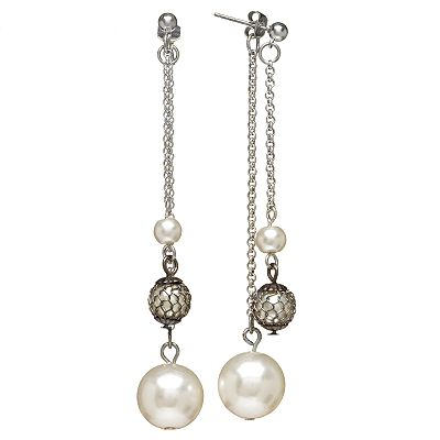 Simply Vera Vera Wang Jet-Tone Mesh Drop Earrings