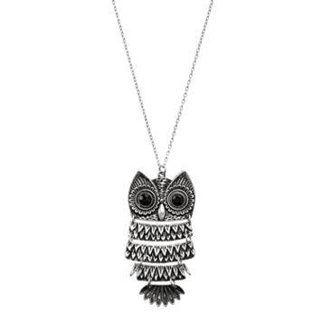 Mudd® Silver-Tone Owl Pendant