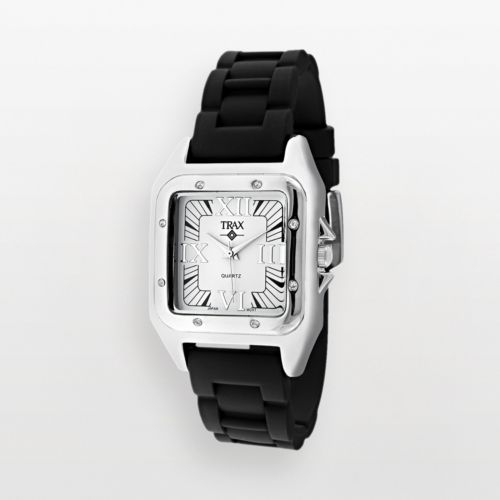 Trax Posh Silver-Tone Crystal Watch - Women