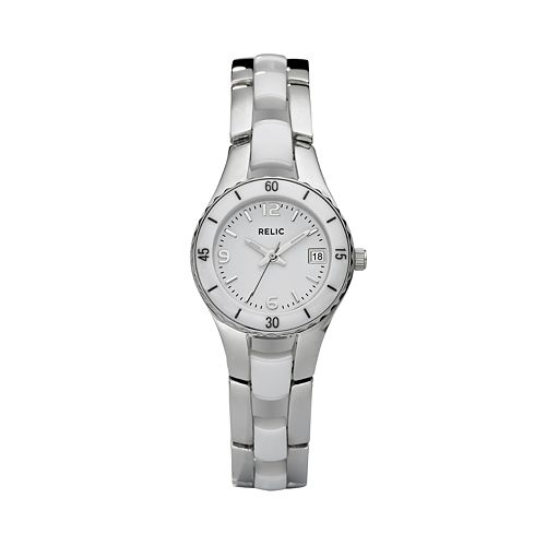 Relic by Fossil Women's Charlotte Stainless Steel & Ceramic Watch