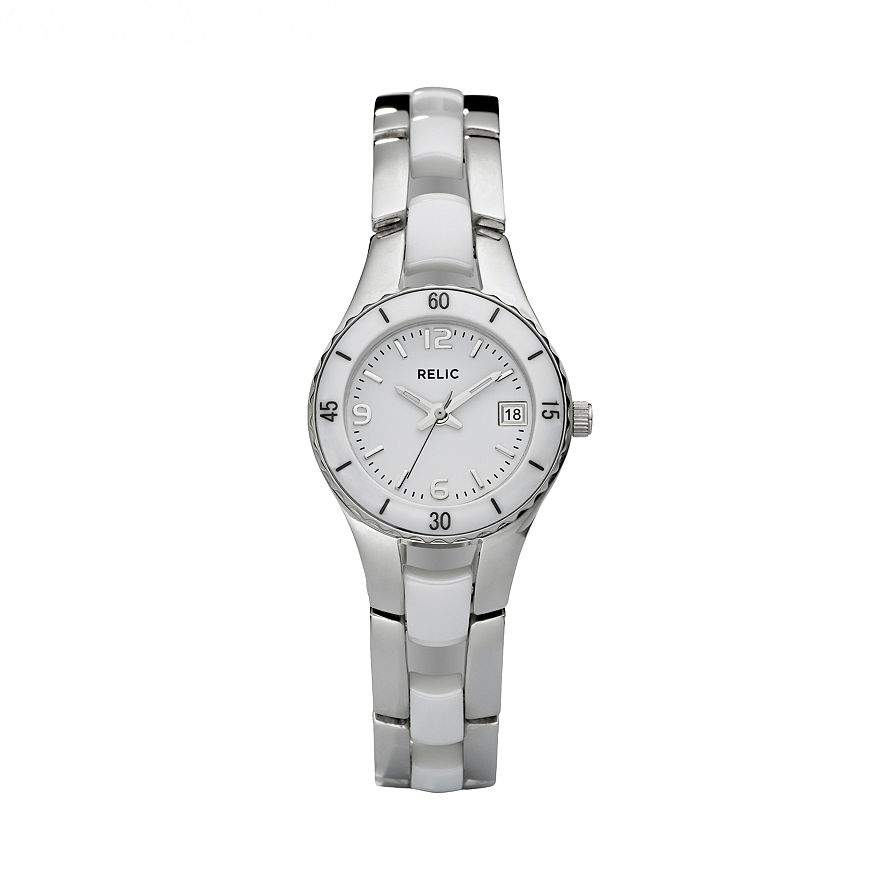 Relic Womens Charlotte Stainless Steel Ceramic Watch