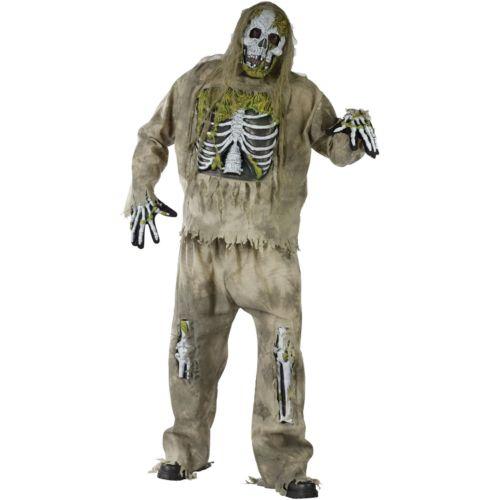 Skeleton Zombie Costume - Adult Plus