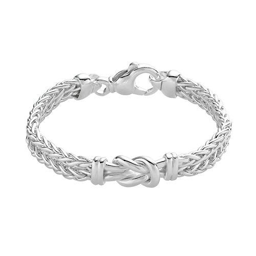 Sterling Silver Infinity Wheat Multistrand Bracelet