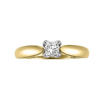 Cherish Always 14k Gold Two Tone 1/3-ct. T.W. Certified Round-Cut Diamond Ring