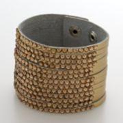 Apt. 9 Gold-Tone Simulated Crystal Multistrand Bracelet