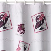 La Femme Chic Fabric Shower Curtain