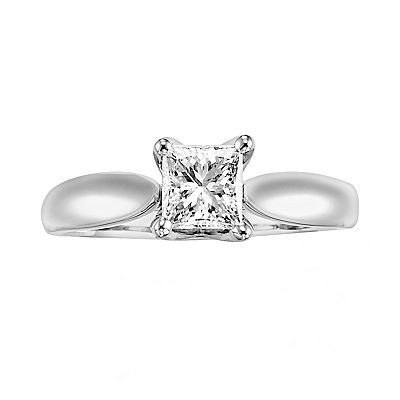 14k White Gold 1-ct. T.W. Certified Diamond Ring