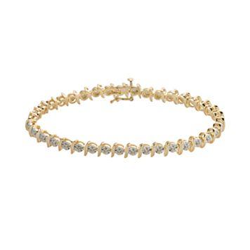 18k Gold-Over-Silver 1/4-ct. T.W. Diamond Bracelet
