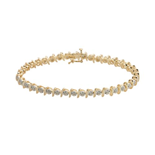 18k Gold-Over-Silver 1/4-ct. T.W. Diamond Bracelet