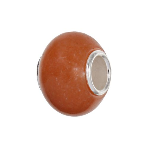 Individuality Beads Sterling Silver Aventurine Bead
