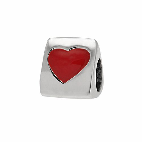 "Individuality Beads Sterling Silver ""I Heart You"" Bead"