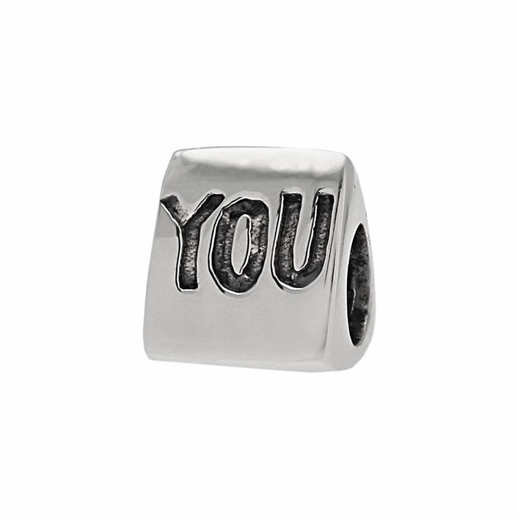 Individuality Beads Sterling Silver I Heart You Bead