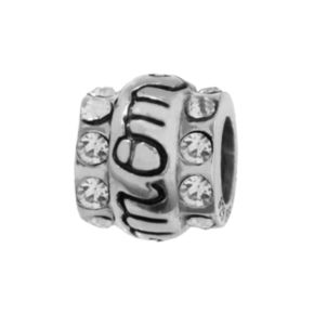 Individuality Beads Sterling Silver Cubic Zirconia Mom Bead