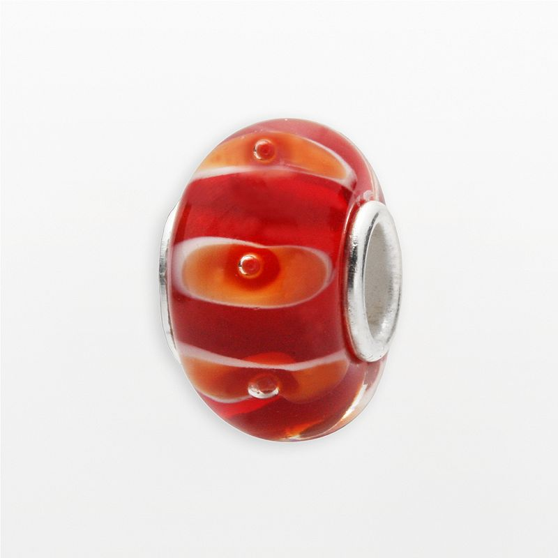 Individuality Beads Sterling Silver Abstract Glass Bead