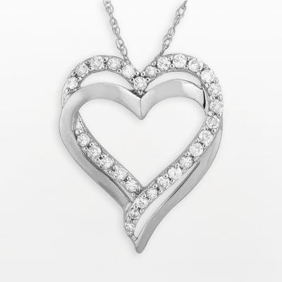 Hearts Pendant Necklace Bracelet Silver Jewelry Display