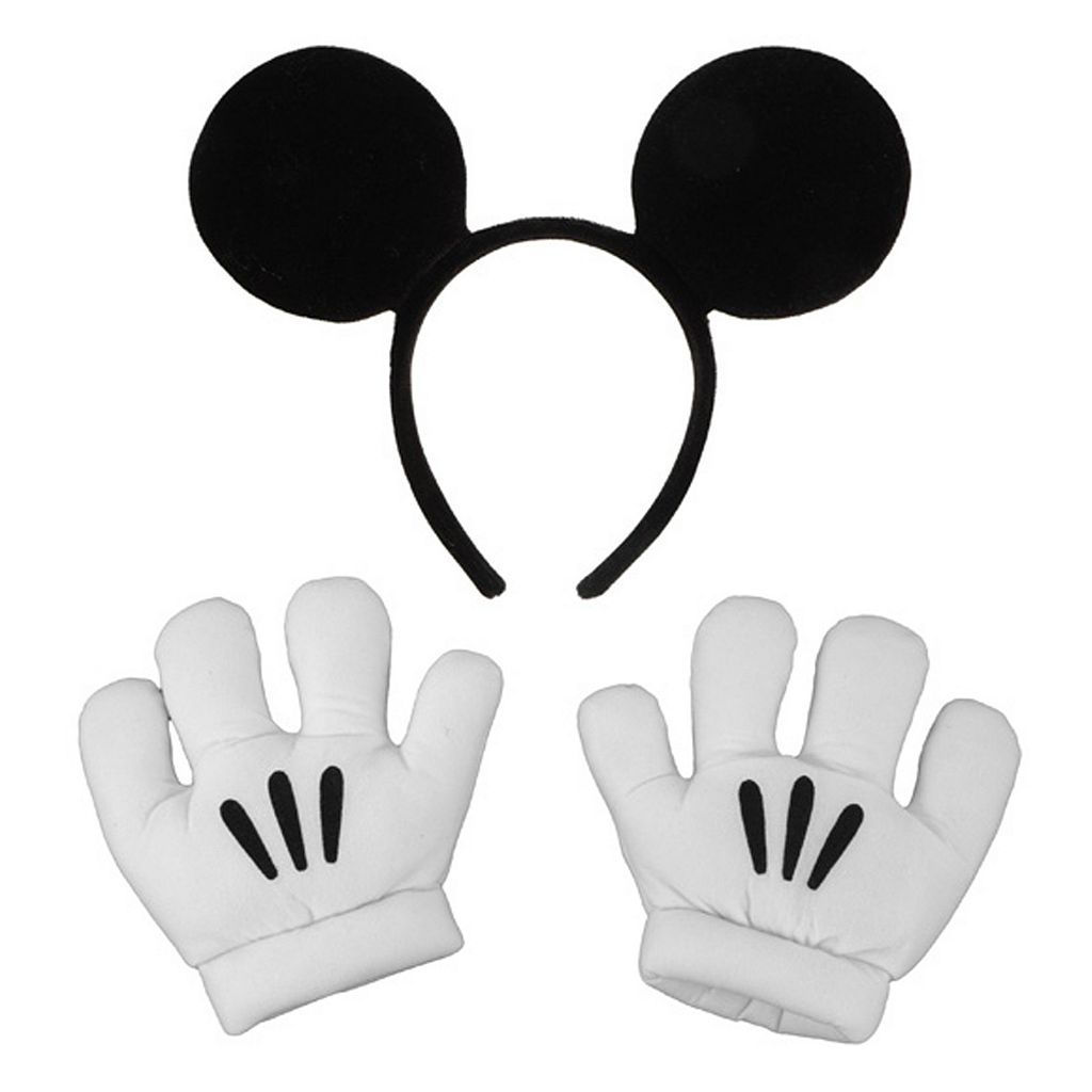 Disney Mickey Mouse Ears & Gloves - Kids