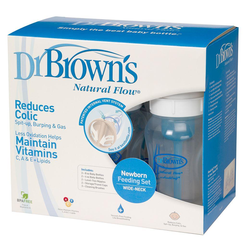 Dr. Brown's Natural Flow Wide-Neck Newborn Feeding Set
