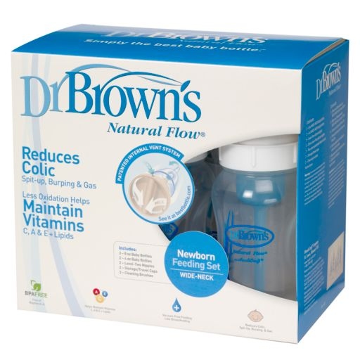 Dr. Brown's Natural Flow Wide-Neck Newborn Feeding Set