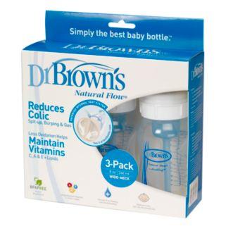 Dr. Brown's Natural Flow 3-pk. 8-oz. Wide-Neck Bottles