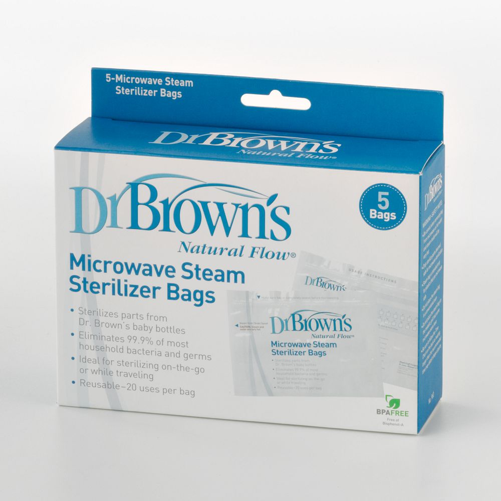 Dr Brown S Natural Flow 5 Pk Microwave Steam Sterilizer Bags