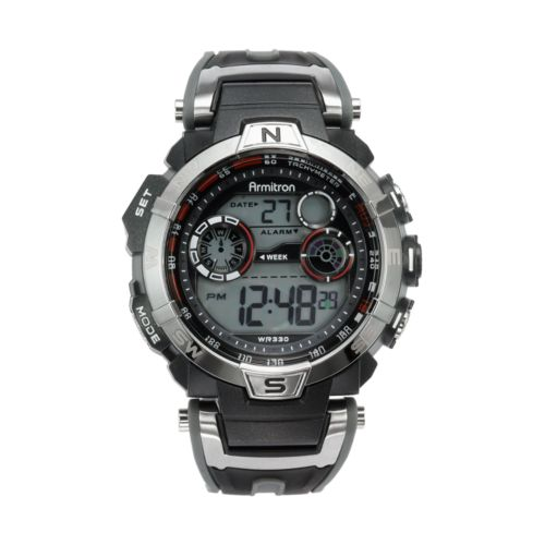 Armitron Watch - Men's Black Resin Digital Chronograph