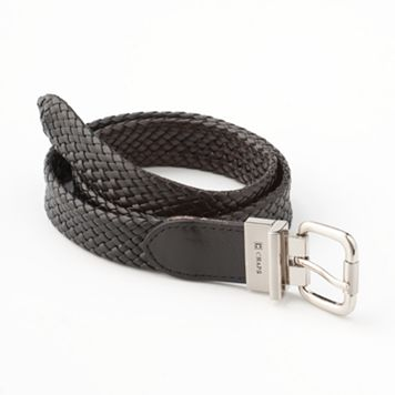 Chaps Reversible Braided Faux-Leather Belt - Boys