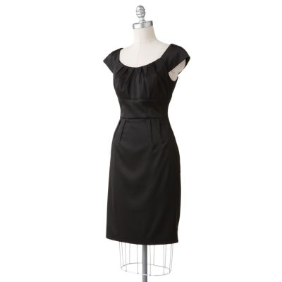 Suite 7 Pleated Sheath Dress