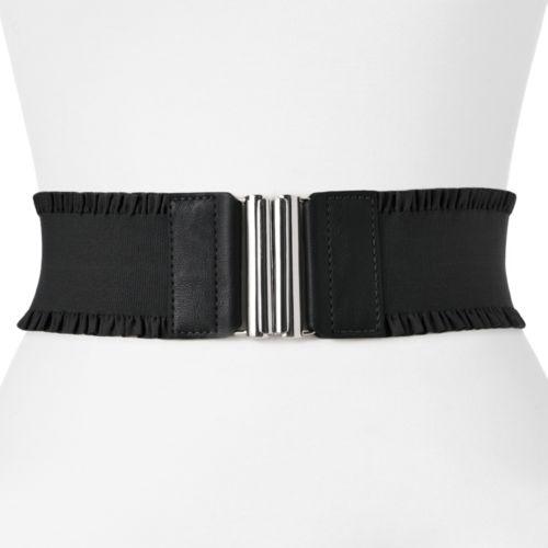 Apt. 9® Ruffled Stretch Belt