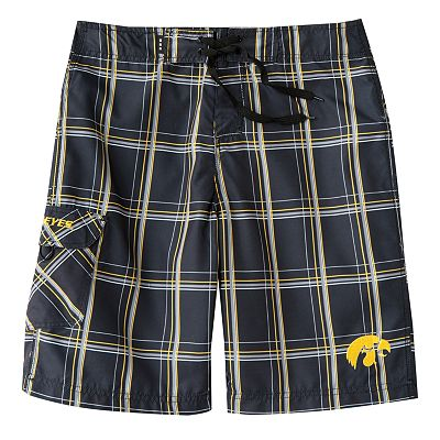 Iowa Hawkeyes Plaid Cargo Board Shorts