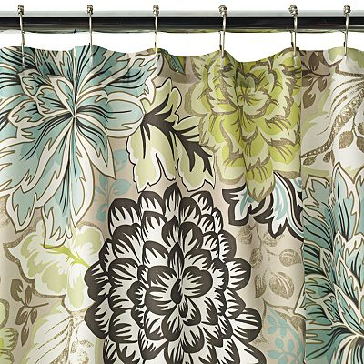 Home Classics Reiko Floral Fabric Shower Curtain