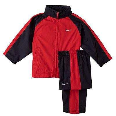 Nike Colorblock Jacket and Pants Warm-Up Set