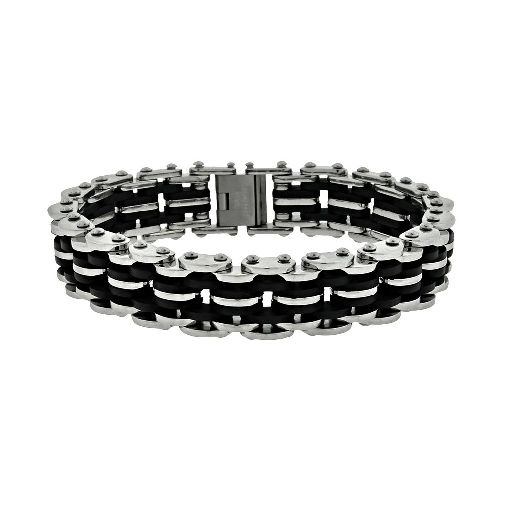 LYNX Stainless Steel Bicycle Chain Bracelet - Men