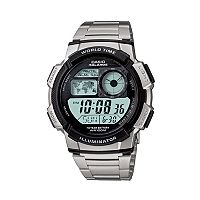 Casio Men's Illuminator Stainless Steel Digital Chronograph Watch - AE1000WD-1AV