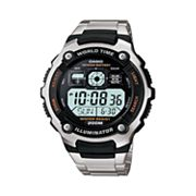 Casio Illuminator Stainless Steel Digital Chronograph Watch - Men