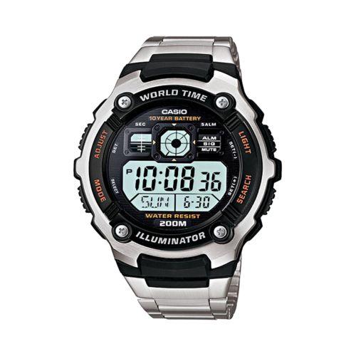 Casio Watch - Men's Illuminator Stainless Steel Digital Chronograph