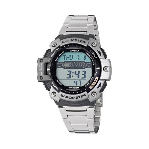 Casio Twin Sensor Stainless Steel Digital Chronograph Watch - Men
