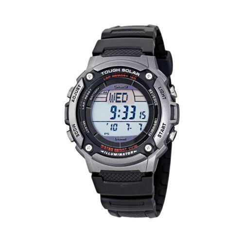 Casio Watch - Men's Tough Solar Illuminator Black Resin Digital Chronograph
