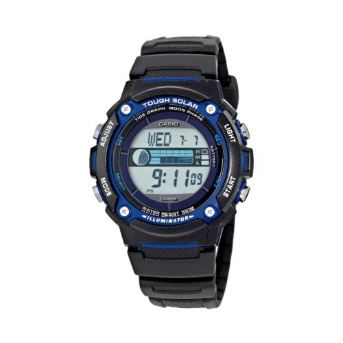 Casio Illuminator Tough Solar Tidal and Moon Graph Digital Chronograph Watch - Men