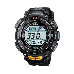 109f1db5cef Casio Men s Pathfinder Tough Solar Triple Sensor Digital Chronograph Watch  - PAG240-1