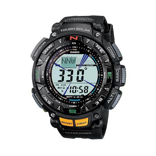 Casio Men's Pathfinder Tough Solar Triple Sensor Digital Chronograph Watch - PAG240-1